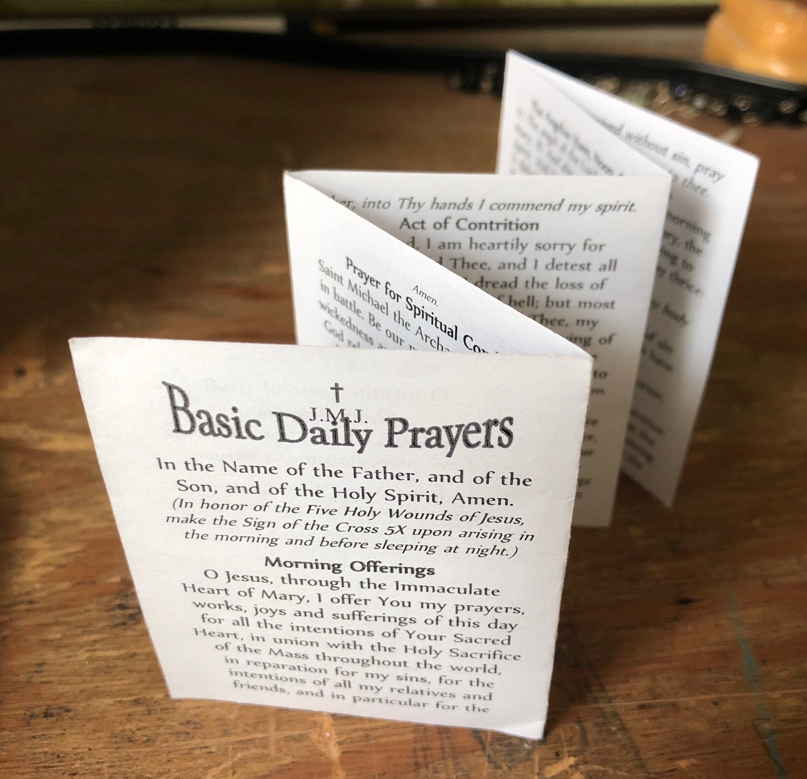 Litany of humility prayer card